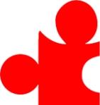Rood puzzelstukje